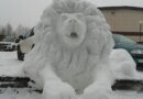 В Смоленске появился снежный лев